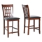 Amber 7 Piece Counter Dining Set - Extension Table, Cherry Finish - WI-AMBER-7-PC-COUNTER-SET