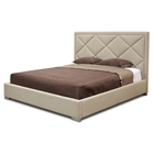 Palomar Beige Fabric King Bed