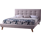 Jonesy Platform Bed - Button Tufted