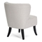 Meryl Upholstered Club Chair - Black Legs, Beige Linen Fabric - WI-BH-63111