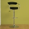 Leontes Adjustable Swivel Bar Stool - Black (Set of 2) - WI-BR0022BK
