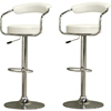 Leontes Adjustable Swivel Bar Stool - White (Set of 2)