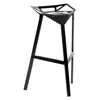 Kaysa 31.75'' Modern Aluminum Bar Stool - Stackable, Black