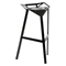 Kaysa 31.75'' Modern Aluminum Bar Stool - Stackable, Black - WI-BS-363-BLACK