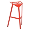 Kaysa 31.75'' Modern Aluminum Bar Stool - Stackable, Red