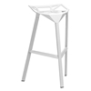 Kaysa 31.75'' Modern Aluminum Bar Stool - Stackable, White