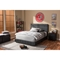 Solo Faux Leather Full Platform Bed - Black - WI-BSL099-FULL-BLACK