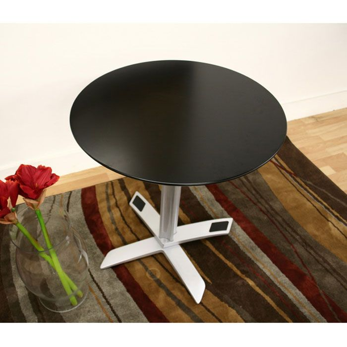 Yang Black Wood Top Folding Table - WI-BT-210-BLK