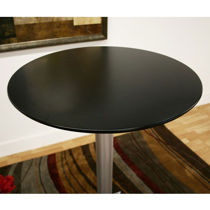 "Yang 44"" High Folding Table - WI-BT-210A-BLK-BT"