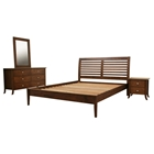 Carter 4-Piece Wooden Bedroom Set in Cocoa