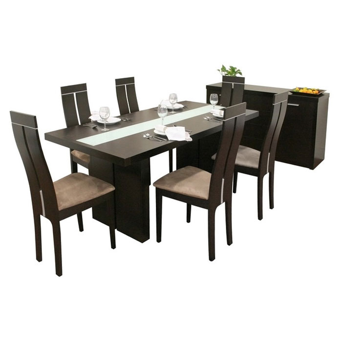 Magness Contemporary 8 Piece Dining Set