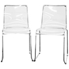 Lino Stackable Transparent Clear Acrylic Dining Chair
