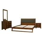 Ceni 4-Piece Bedroom Set in Cocoa