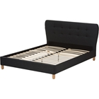 Laureo Upholstered Platform Bed - Grid-Tufting Headboard