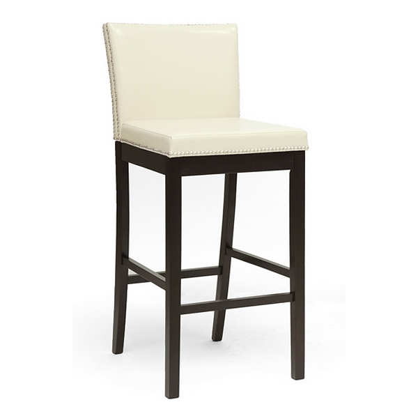 Graymoor 30.75'' Bar Stool - Nail Heads, Cream