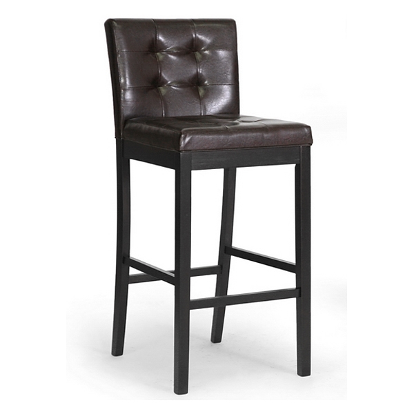 Prospect 31'' Transitional Bar Stool - Tufted, Dark Brown