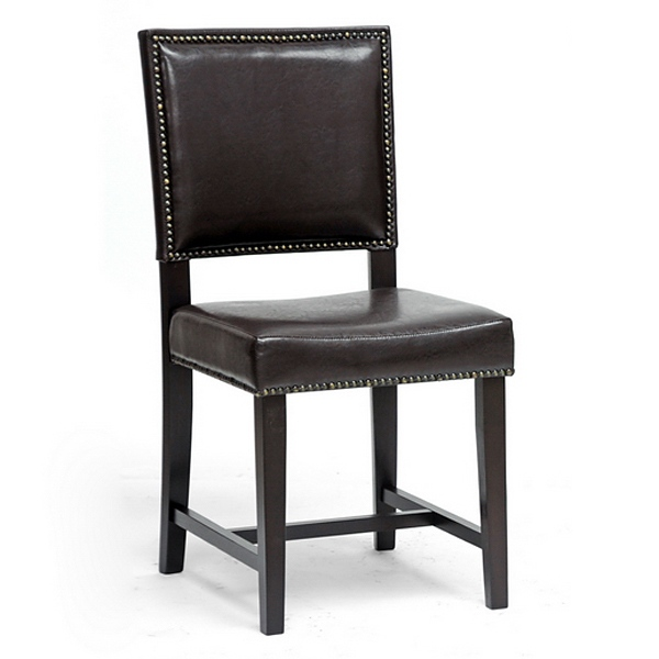 Nottingham Dining Chair - Nail Heads, Dark Brown