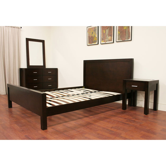 Charlie 4-Piece Wooden Bedroom Set - WI-CHARLIE-4PC