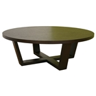 Chasity Black Stained Oak Round Coffee Table