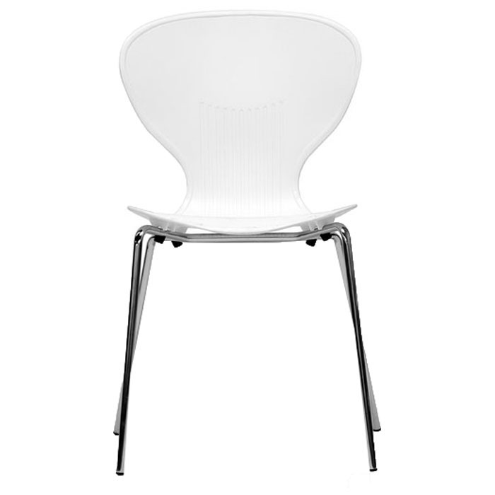 Boujan White Plastic Modern Dining Chair - WI-DC-2-WHITE