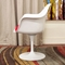Cyma Plastic Arm Chair in Red and White - WI-DC-221