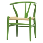 Hans Wegner Style Wishbone Dining Chair - Green
