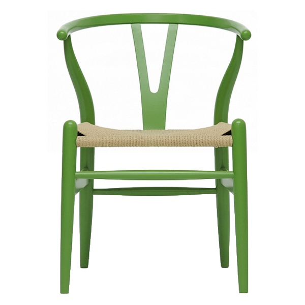 Hans Wegner Style Wishbone Dining Chair - Green - WI-DC-541-DARK-GREEN