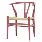 Hans Wegner Style Wishbone Dining Chair - Pink