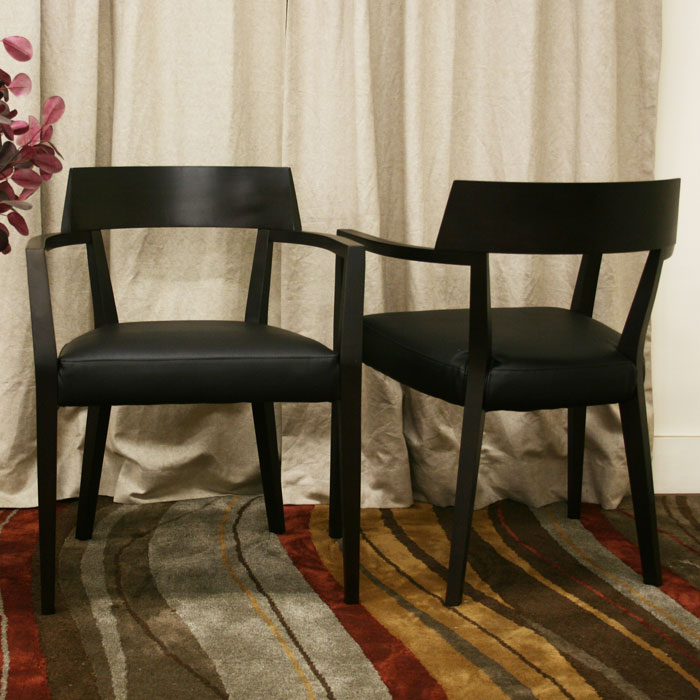 Laine Wood Dining Chair with Black Seat - WI-DC-587-X