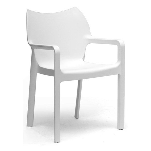 Limerick Molded Plastic Dining Chair - Stackable, White