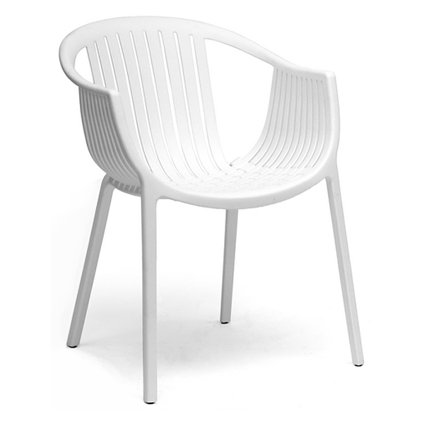 Grafton Molded Plastic Dining Chair - Stackable, White