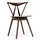 Mercer Modern Wood Dining Chair - Dark Brown