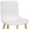 Lyle Modern Dining Chair - Wood Legs, White Plastic Seat - WI-DC-782-WHITE