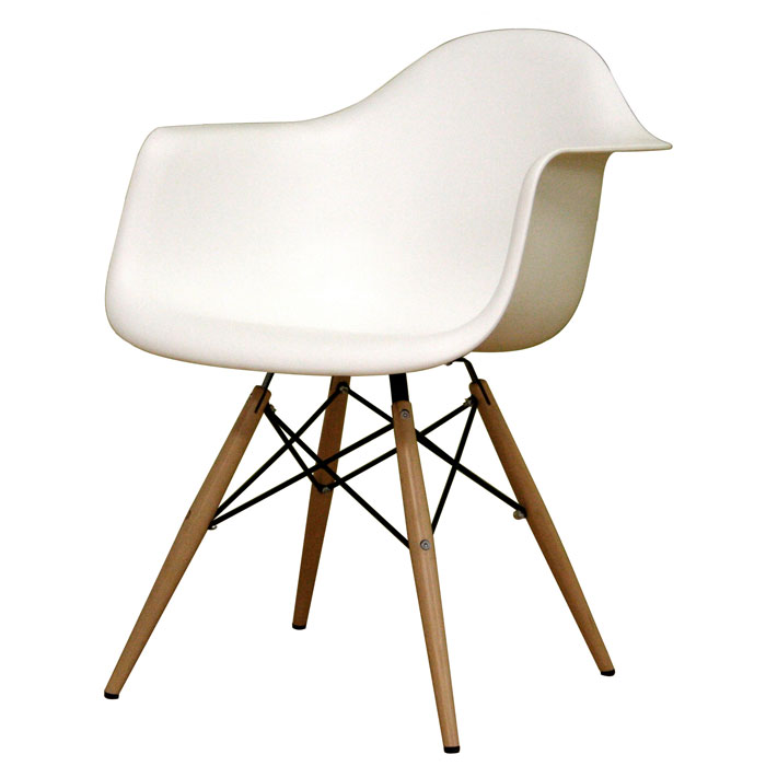 Pascal White Plastic Chair - WI-DC-866