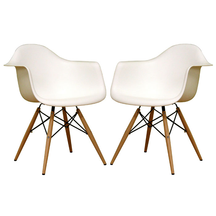 Pascal White Plastic Chair