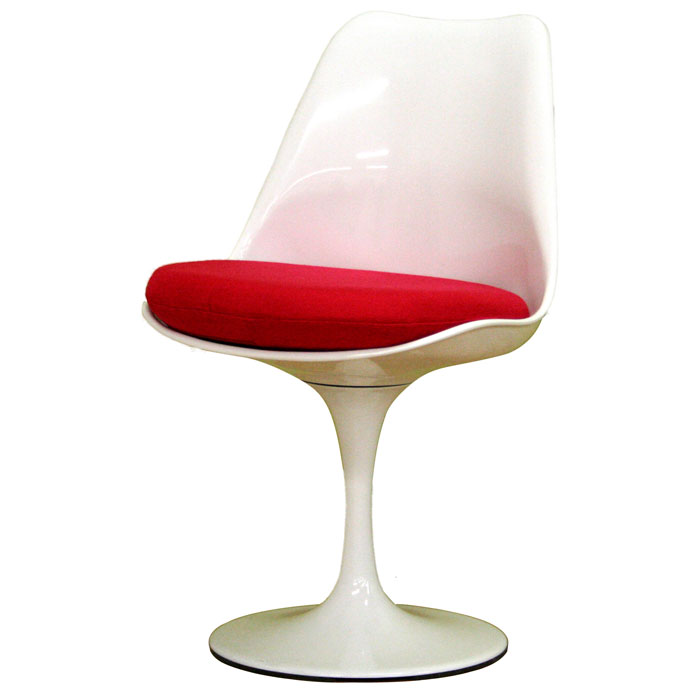 Cyma White and Red Plastic Chair