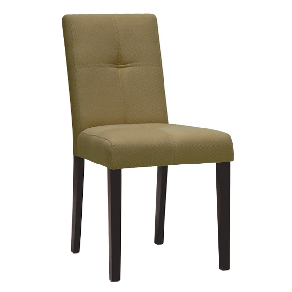 Elsa Dining Chair - Taupe Brown Fabric, Dark Brown Legs