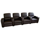 Showtime 4-Seat Leather Theater Sectional