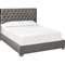Fiona Fabric Platform Bed - Button Tufted, Gray - WI-K-BED-SLATE