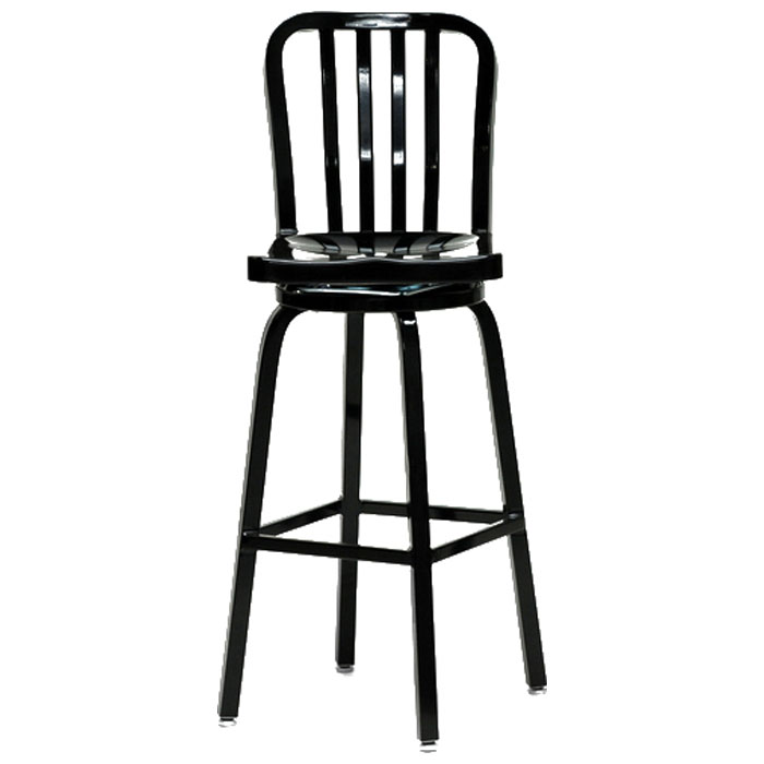 Lasenza Aluminum Cafe Swivel Bar Stool - WI-LASENZA-SWIVEL-BS-X