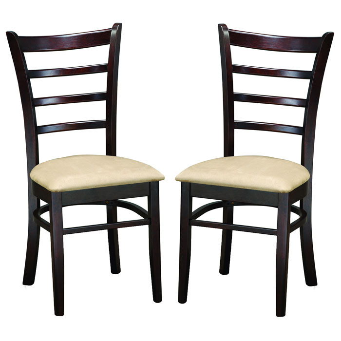 Lanark Dark Brown 5 Piece Dining Set - WI-LANARK-SET-5PC