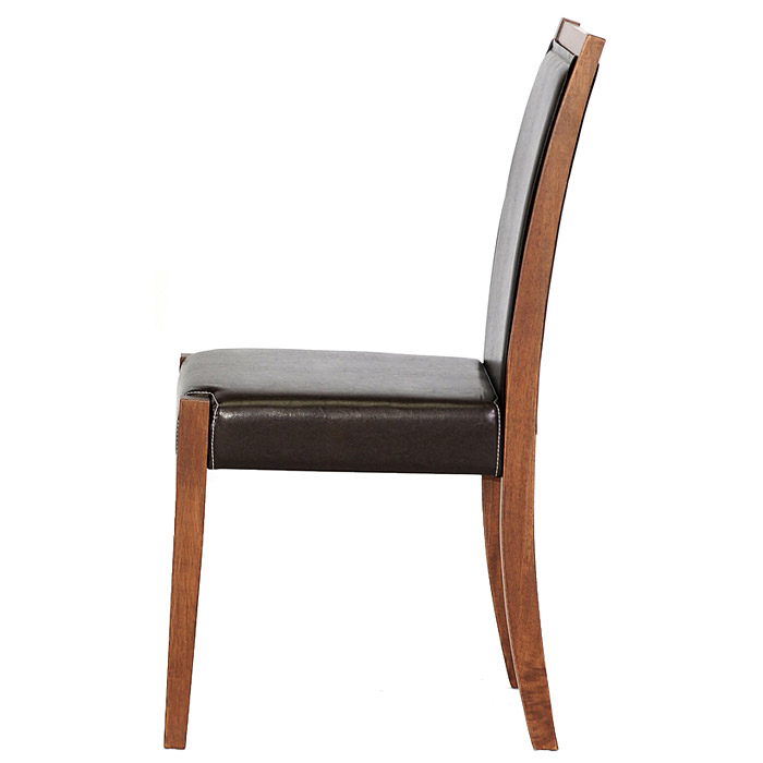 Lita Dining Chair - Cherry Frame, Dark Brown Leather - WI-LITA-DINING-CHAIR-109-540