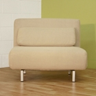 Elona Contemporary Convertible Chair - Cream