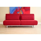Elona Contemporary Convertible Sofa - Red