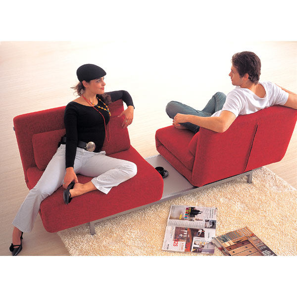 Elona Contemporary Convertible Sofa - Red - WI-LK06-2-D-06-RED