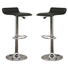 Vita Black Adjustable Height Swivel Bar Stool