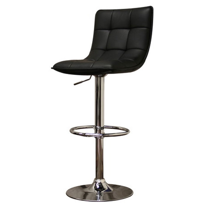Aleena Black Adjustable Height Swivel Bar Stool
