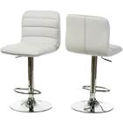 Lyris Faux Leather Bar Stool - White (Set of 2)