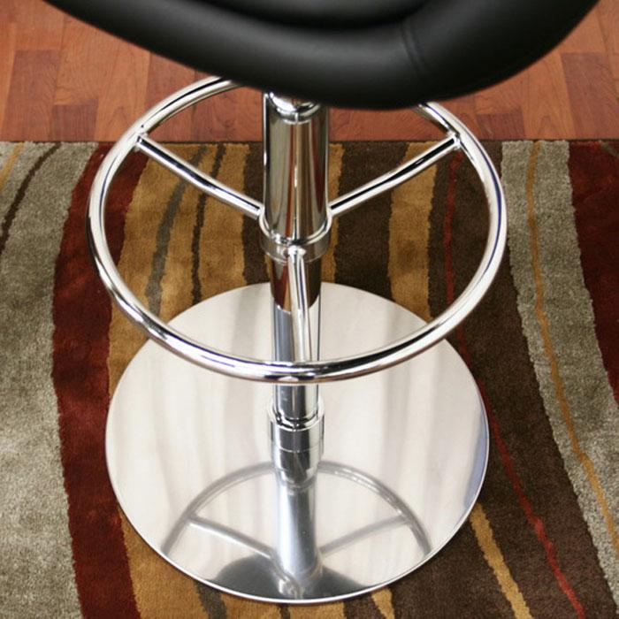 Wynn Black Adjustable Height Swivel Bar Stool - WI-M-97080-BLACK