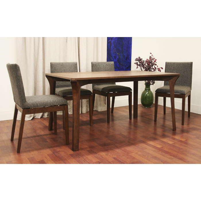 Mier Brown 5 Piece Modern Dining Set - WI-MIER-SET-5PC